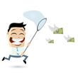 geld cartoon männchen finanzen
