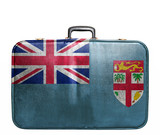 Vintage travel bag with flag of Fiji