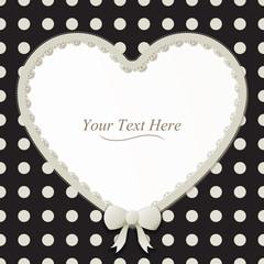Heart Polka Dot Frame
