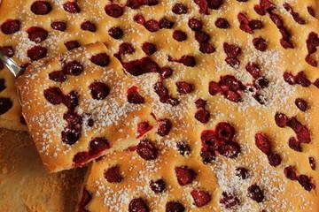 Himbeer - Blechkuchen