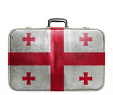 Vintage travel bag with flag of Georgia