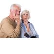 nachdenkliche Senioren, Pärchen Rentner