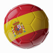 Soccer ball. Flag of Spain