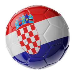 Soccer ball. Flag of Croatia