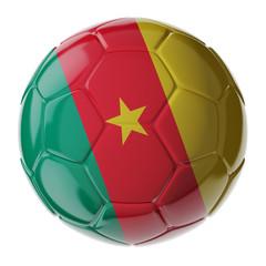 Soccer ball. Flag of Cameroon