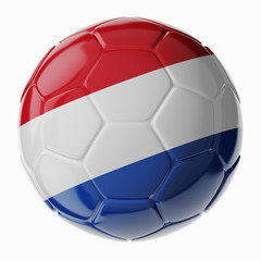 Soccer ball. Flag of Netherlands