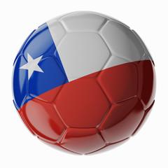Soccer ball. Flag of Chili