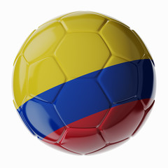 Soccer ball. Flag of Colombia