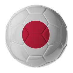 Soccer ball. Flag of Japan
