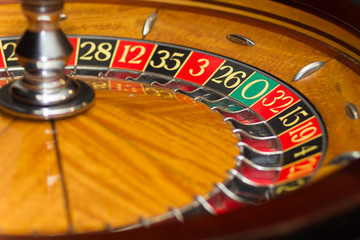 casino roulette - closeup