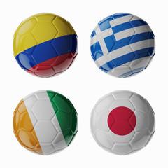 Football WorldCup 2014. Group C. Football/soccer balls.