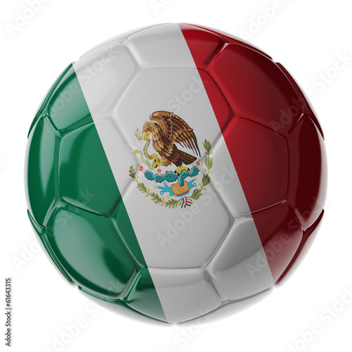 Soccer ball. Flag of Mexico