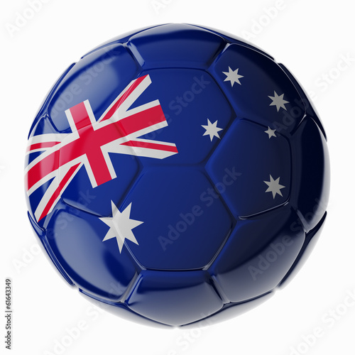 Soccer ball. Flag of Australia