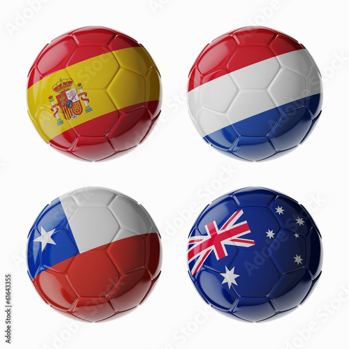 Football WorldCup 2014. Group B. Football/soccer balls.