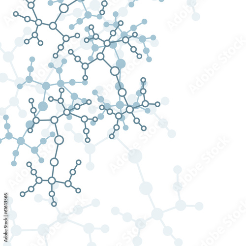 Molecule background, colorful illustration, digital composition.