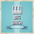 Big Data Concept on Blue in Flat Design.