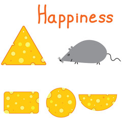 Happiness mouse and cheese