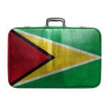 Vintage travel bag with flag of Guyana