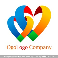 heart, point, logo, illustrations, business, vector, symbol