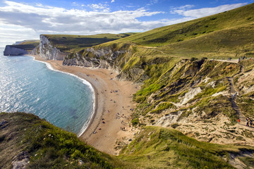 Dorset coastline looking towards Durdle Door