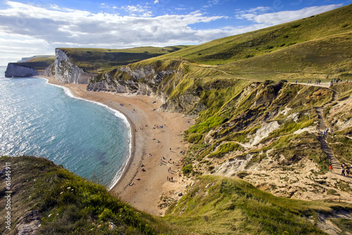 Poster Dorset coastline looking towards Durdle Door