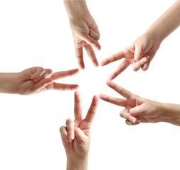Fingers star shape