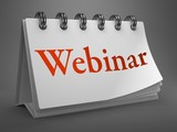 Webinar - Red Word on Desktop Calendar.
