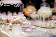 Wedding cake pops decorated with sugar flowers