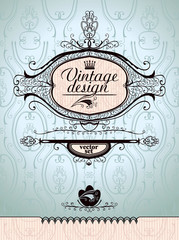 Vector design in vintage style.