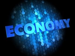 Economy on Dark Digital Background.