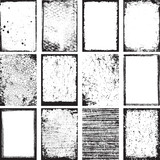 Grunge Backgrounds And Frames Vector - 61648591