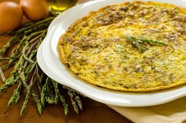 Frittata di asparagi, cucina italiana