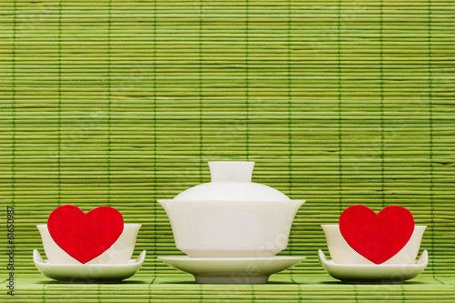 Ware for tea drinking and heart