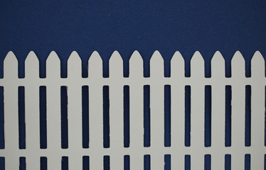White picket fence paper cut out