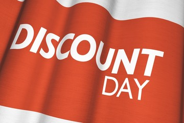 Discount Day Canvas Flag