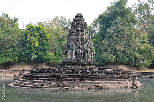 Neak Pean Temple at the Angkor Wat historical site area