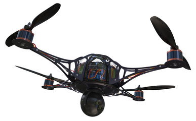 Quadrocopter with camera