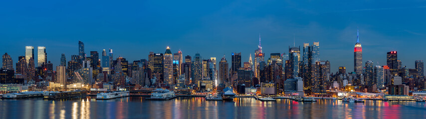 New York panorama on President's Day.