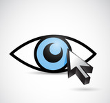 eye and cursor illustration design