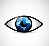 eye globe illustration design