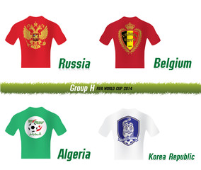 Vector Symbol soccer team FIFA WORLD CUP 2014 GROUP H
