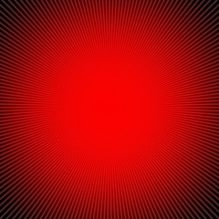 Rays  in abstract red universe