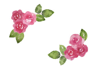 バラの飾り枠