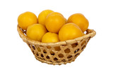 basket with apricots