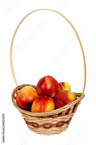 nectarine in basket