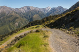 mountain track in Kaikoura Ranges
