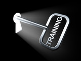 Education concept: Training on key