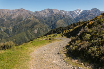 track in Kaikoura Ranges