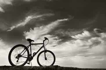 Bike under sky
