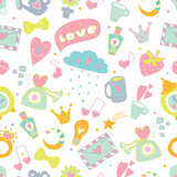 Cute love pattern.